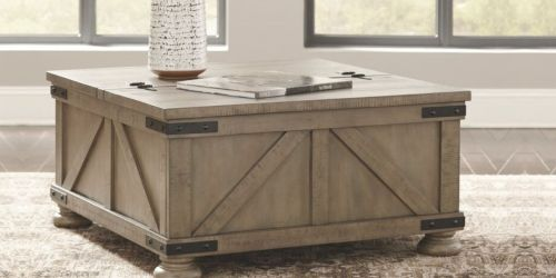 Modern Farmhouse Coffee Table w/ Lift Top Storage Only $249.99 Shipped (Regularly $366)