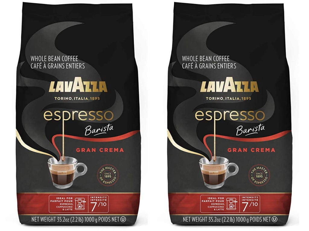 two large bags of whole bean coffee