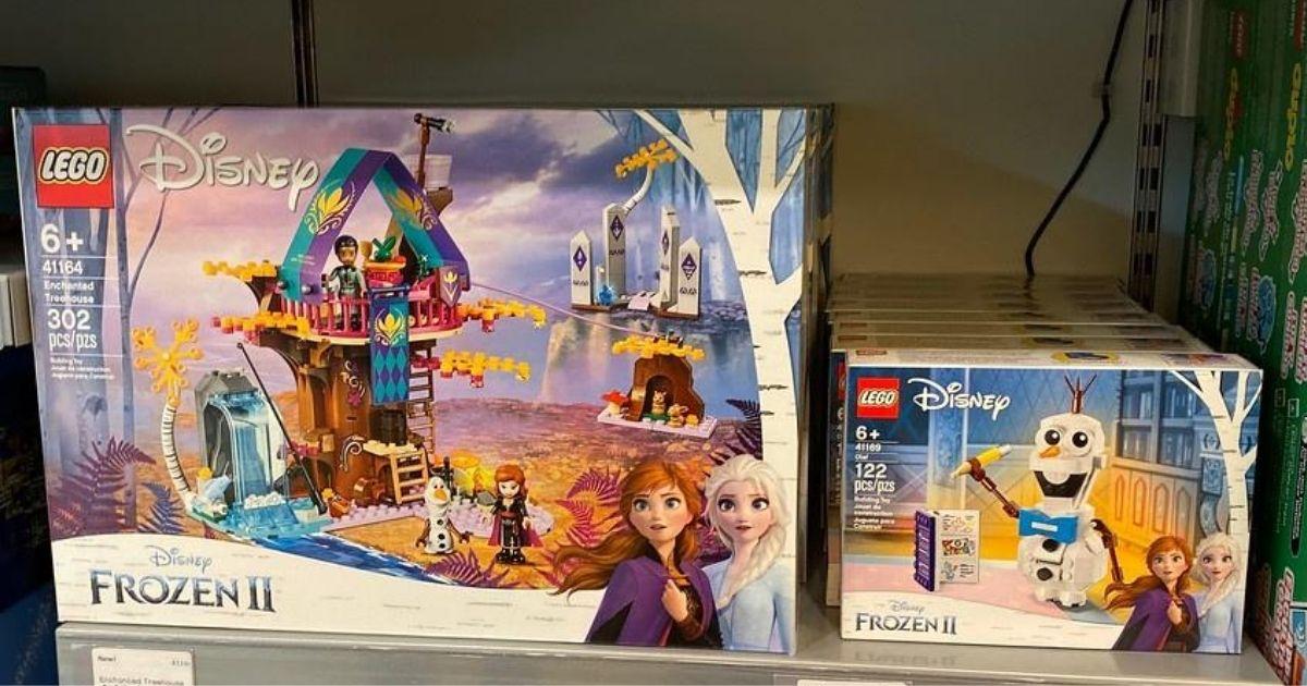 LEGO Disney frozen 2 sets on store shelf