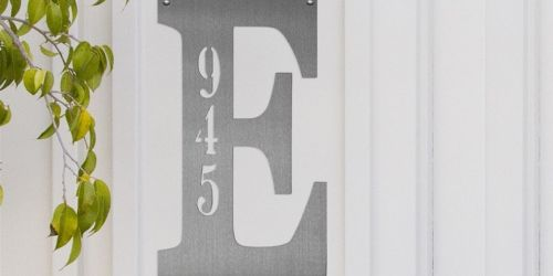 Custom Letter Address Plaque Only $17.99 Shipped