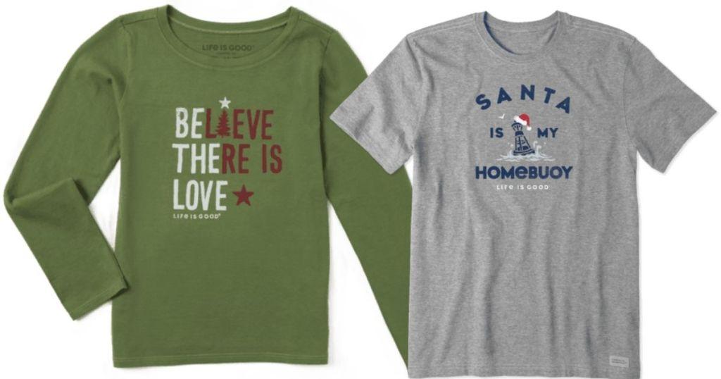 life is good kids christmas shirts