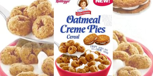Kellogg's Little Debbie Oatmeal Creme Pies Cereal Will Be Your New Fave Midnight Snack