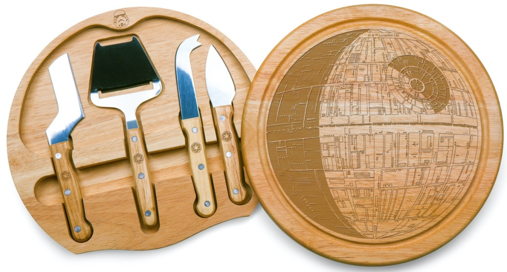 stock image of Lucas Star Wars/Death Star Circo Cheese Set with Cheese Tools