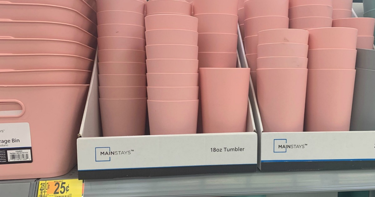 Large in-store display of tumbers
