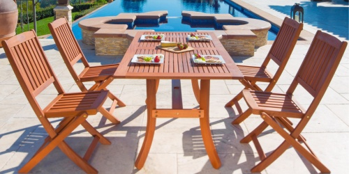 5-Piece Wooden Patio Dining Set Just $269.97 Shipped on Walmart.com (Regularly $453)
