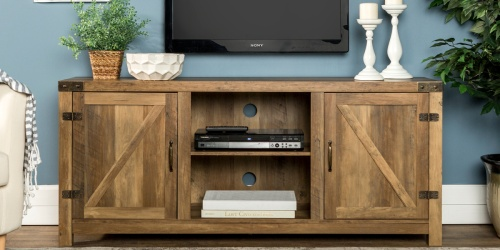 Farmhouse Barn Door TV Stand Only $175 Shipped on Walmart.com (Regularly $250)