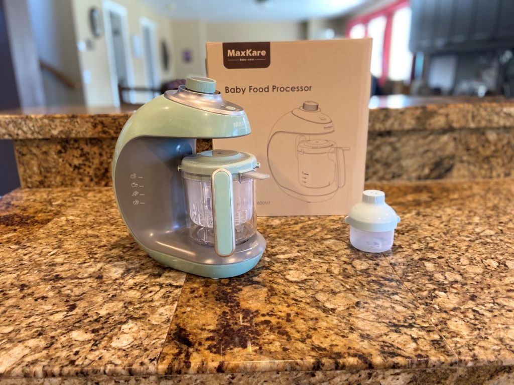 baby food processor next to the box
