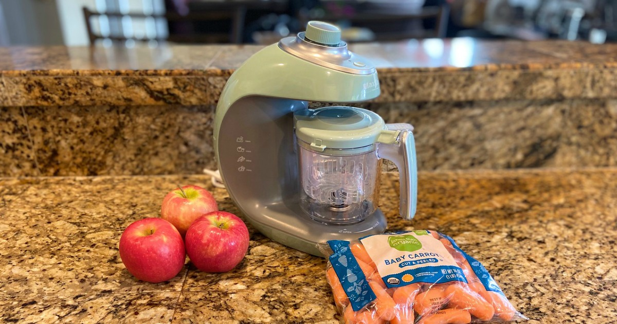 Maxkare Baby Food Maker on counter