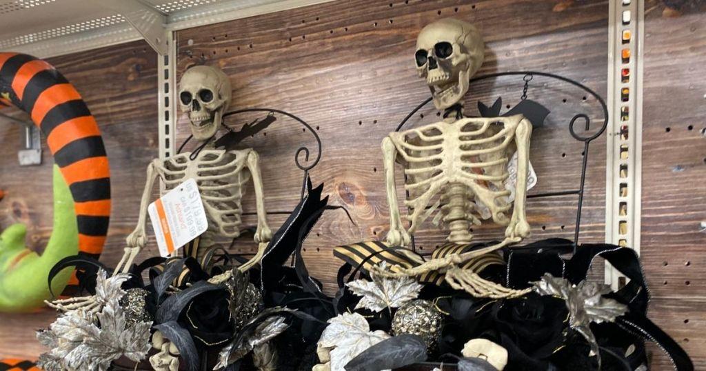 Halloween skeletons at Michaels