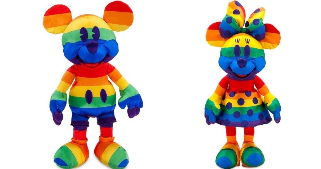 Mickey and Minnie Rainbow Plush