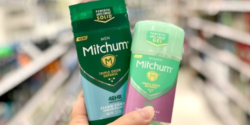 Mitchum Deodorant 2-Pack Only $2.95 Shipped on Amazon (Just $1.48 Each)