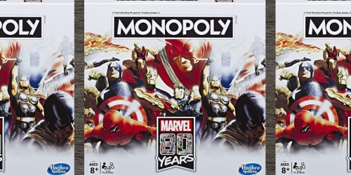 Monopoly Marvel 80 Years Edition Board Game Only $10 on GameStop (Regularly $30)