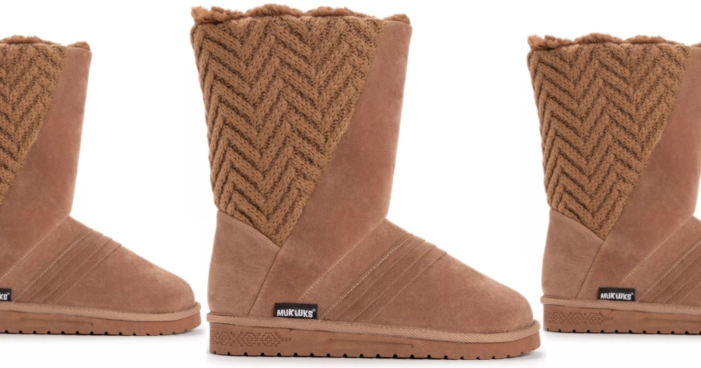 Light brown color boots for women from Muk Luks
