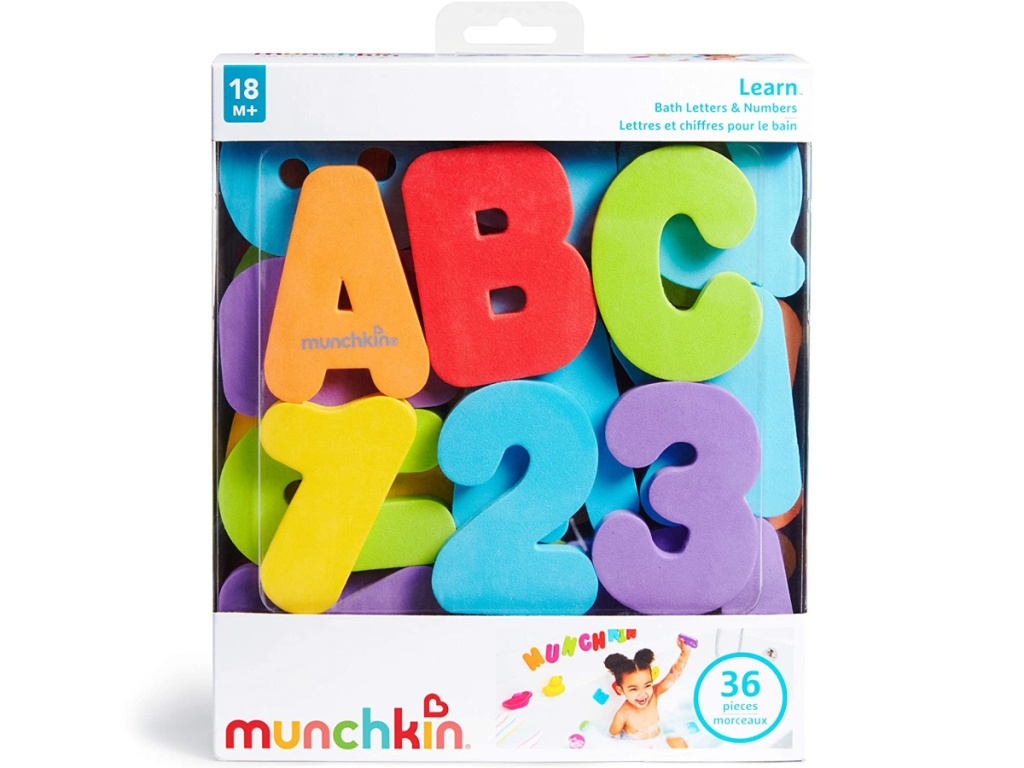 Munchkin Letters and Numbers 36-Count Bath Toys