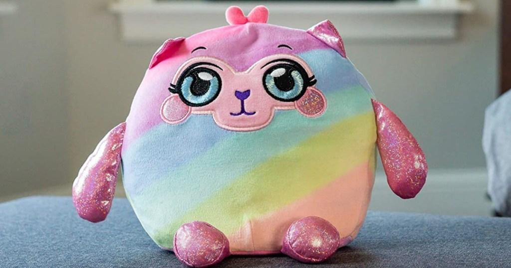 Mushmeez plush with rainbow colors