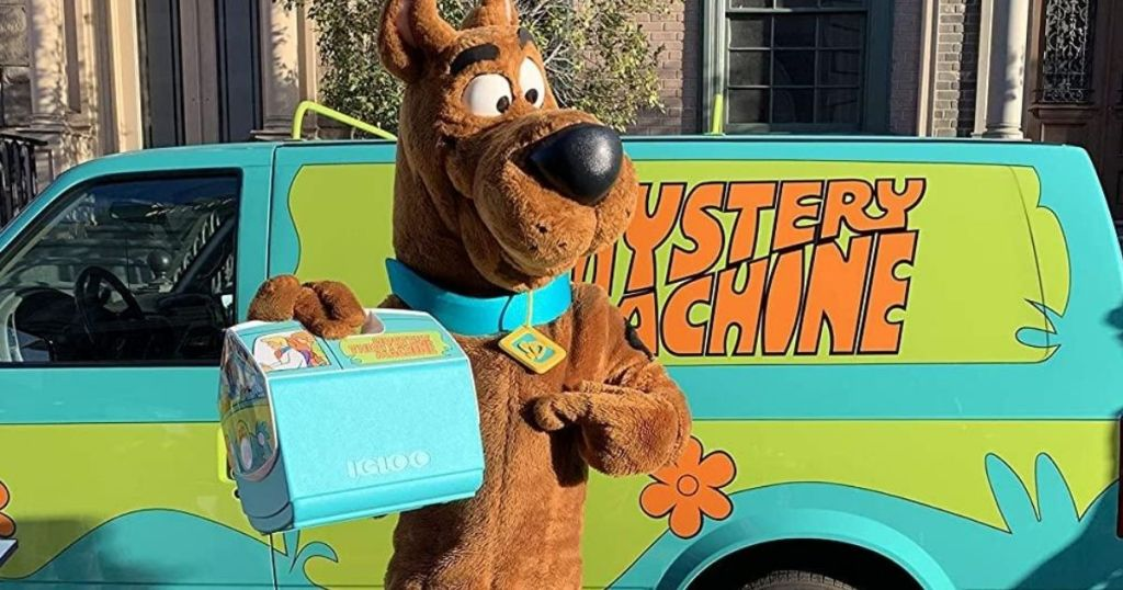 Scooby Doo holding a cooler