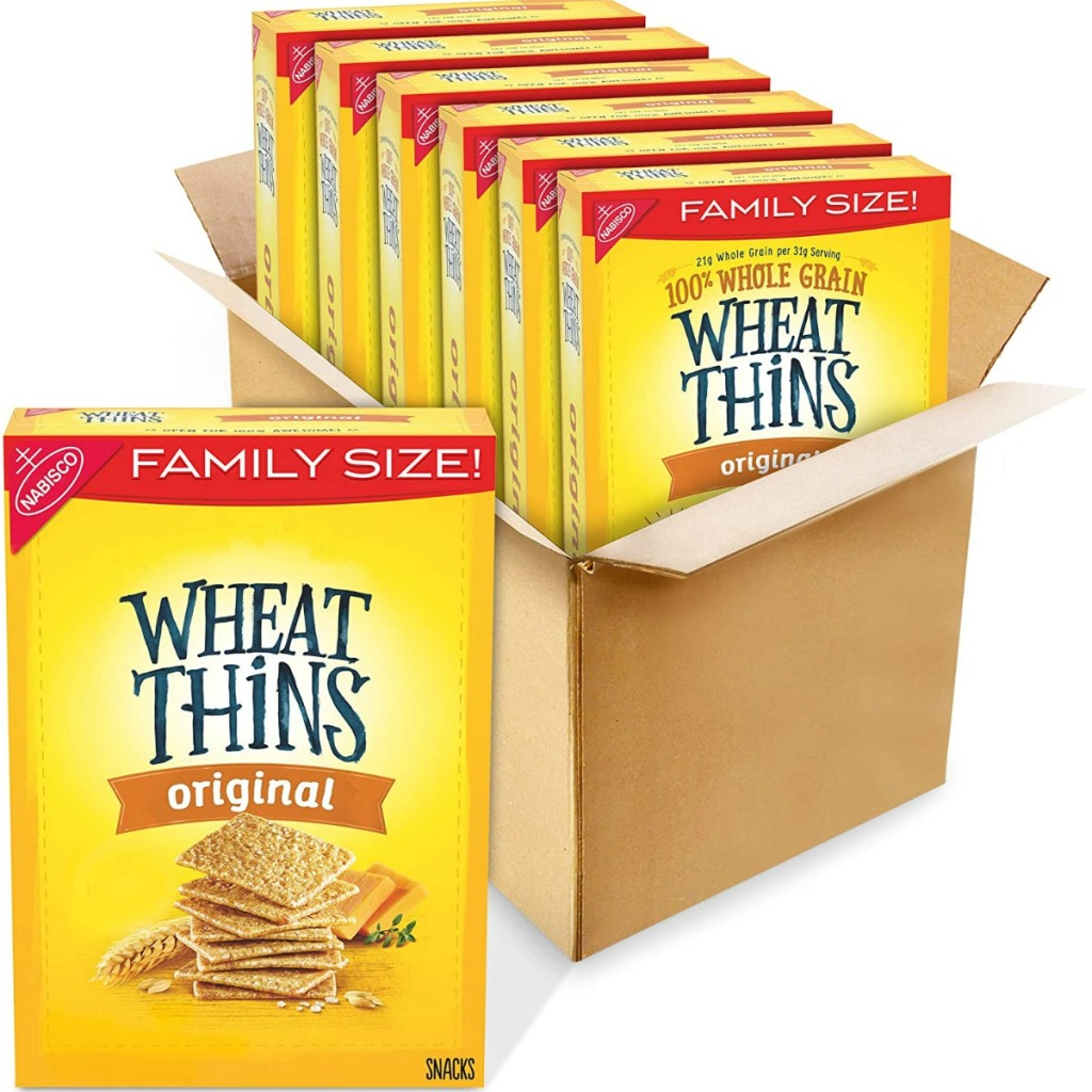 Wheat Thin crackers in a big box
