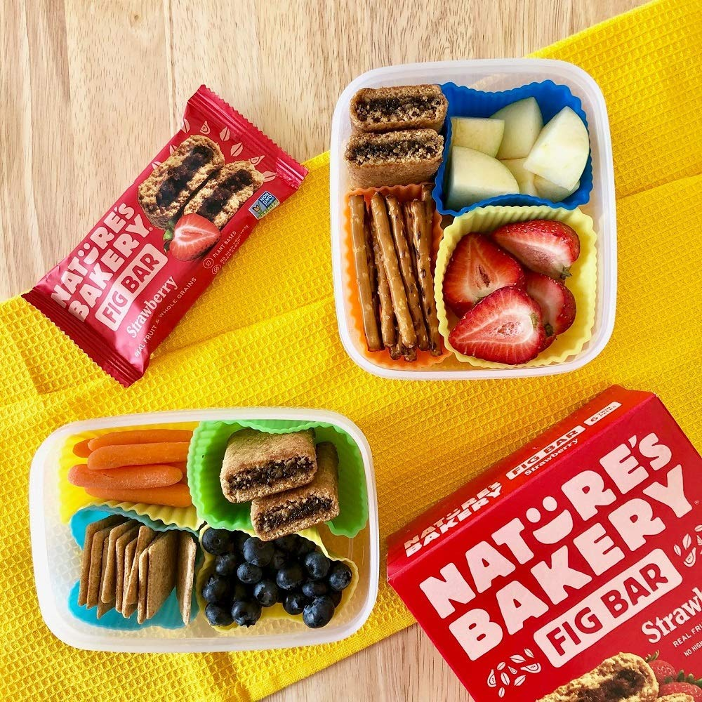 Nature's Bakery Fig Bars in bento lunch box
