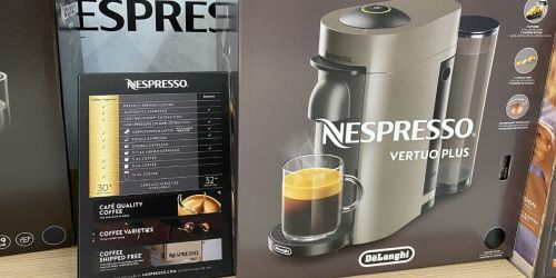 Nespresso Coffee Machine, Milk Frother + 12 Coffee Capsules Only $114.99 Shipped on BestBuy.com