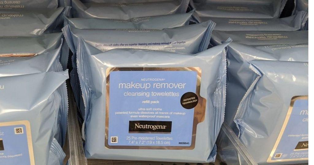 Neutrogena Makeup Wipes on store shelf