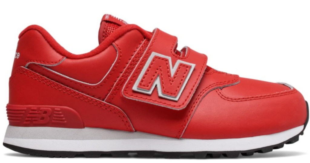 New Balance Little Kids 574 Shoes in Red