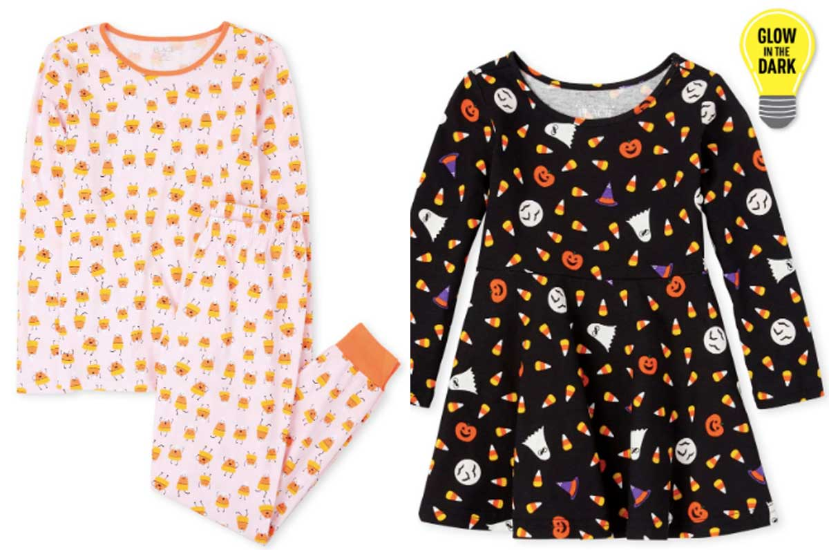 halloween pajama and dress for family and girls