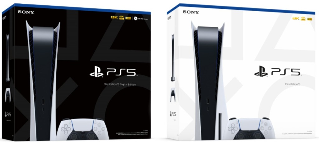 Playstation 5 console system in packaging
