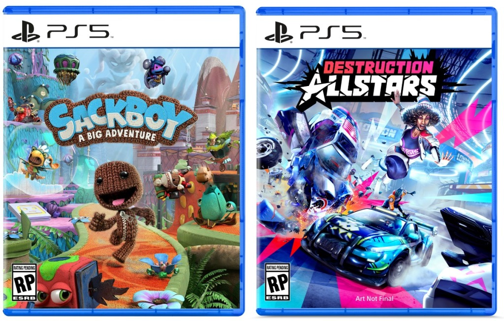 Two PS5 video games - sackboy and a racing game