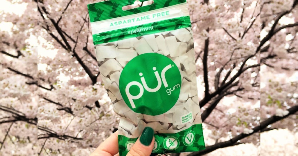 PUR Spearmint 55-Piece 100% Xylitol Chewing Gum