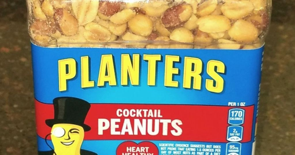 container of Planters peanuts