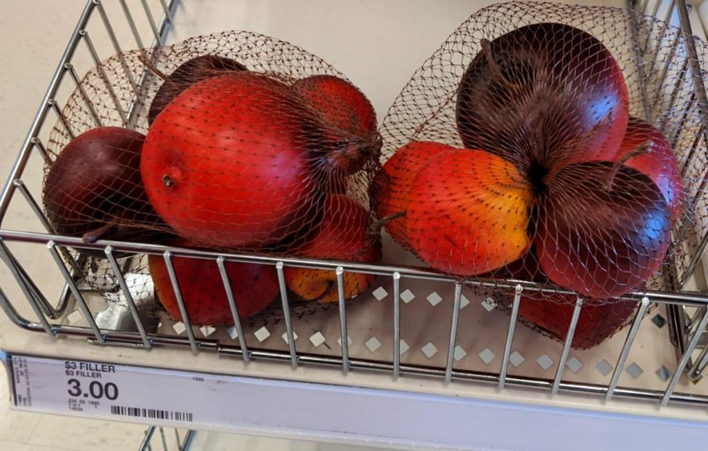 Plastic Fruit Basket Filler in dollar spot at Target