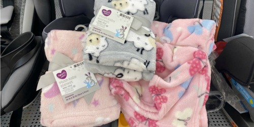 These Adorable Plush Baby Blankets are Less Than $5 at Walmart