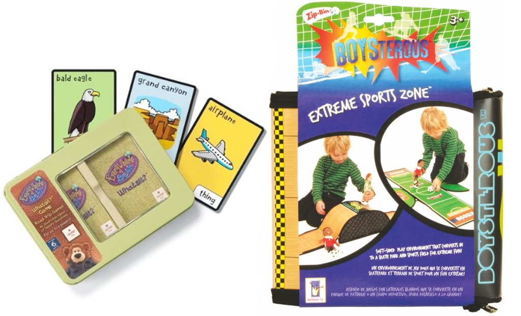 kids road trip scavenger hunt game and boys extreme sports activity set
