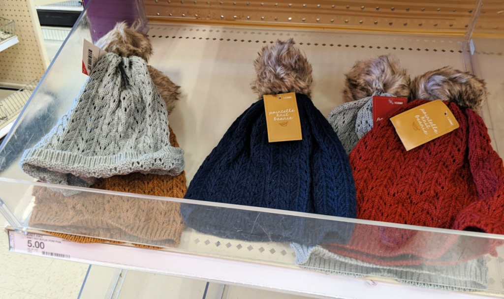 Pointelle Knit Beanie in dollar spot at Target