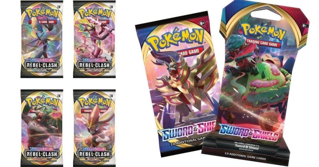 six sets of Pokemon cards
