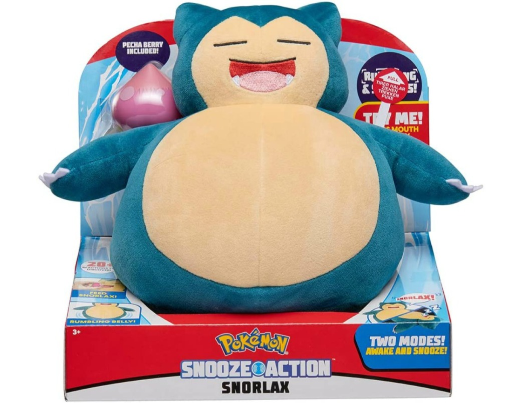 Large plush Pokemon themed toy in packing