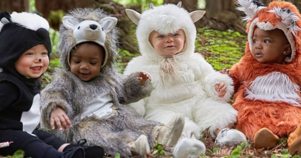 babies dressed as animals for halloween
