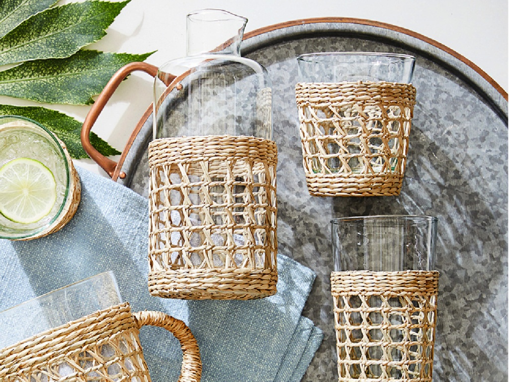Pottery Barn's Cane Drinkware Collection