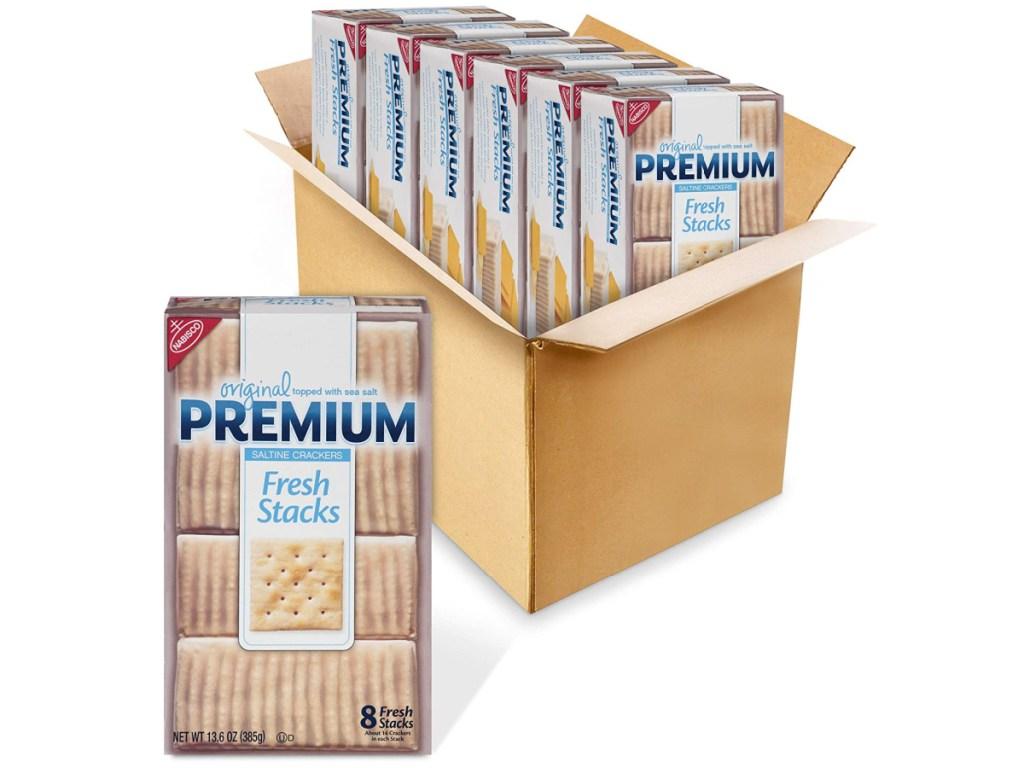 Premium Original Fresh Stacks Saltine Crackers 6-Pack