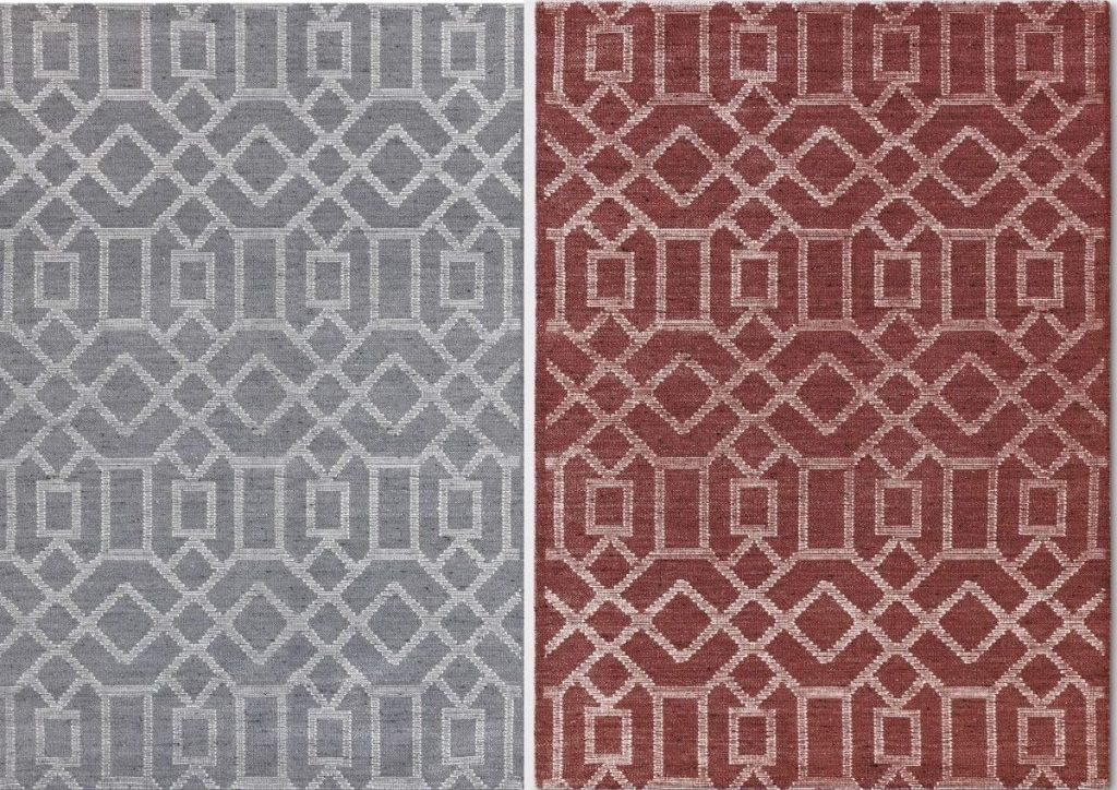 two geometric rugs