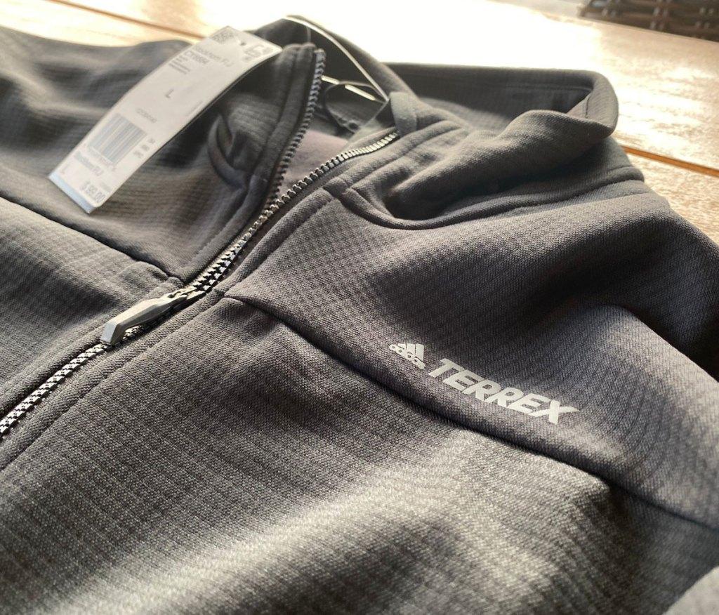 grey men's adidas textured pullover jacket
