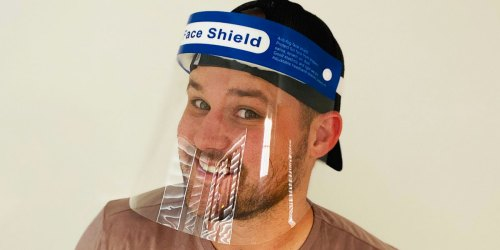Protective Face Shield 20-Pack Just $27.99 | Only $1.40 Each (Reusable & Easy to Clean)
