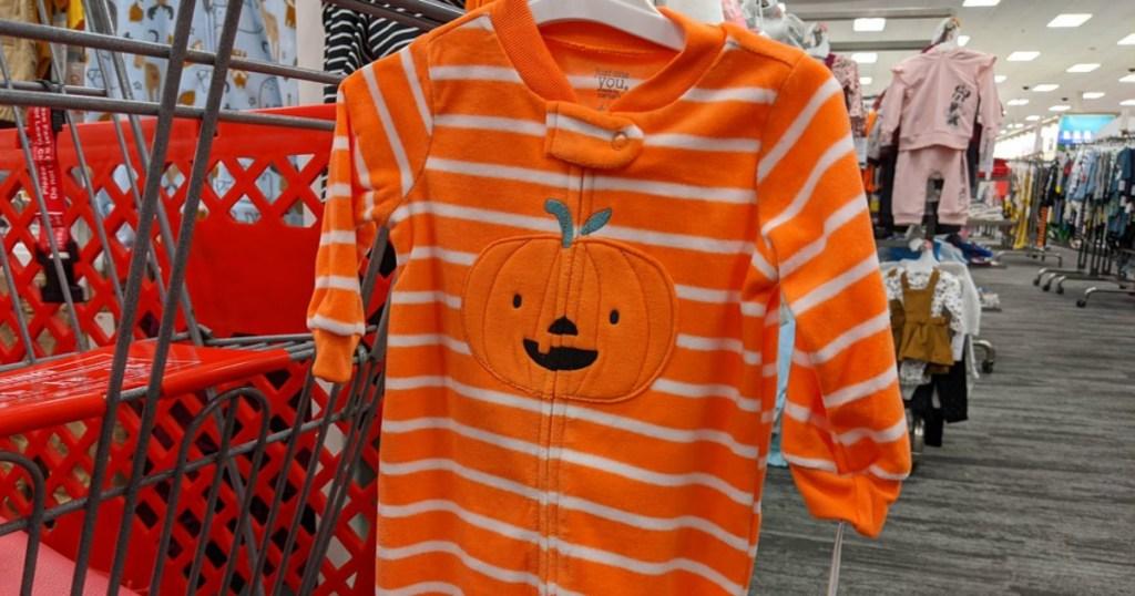 Pumpkin baby onsie at Target