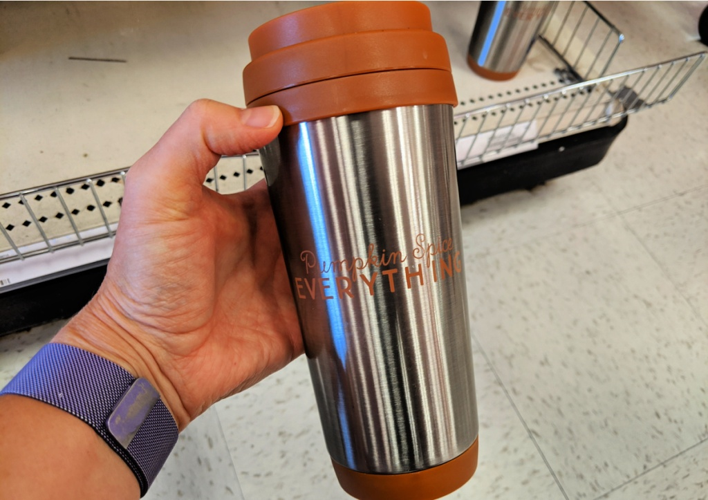 Pumpkin Spice and Everything Nice Tumbler in dollar spot at Target