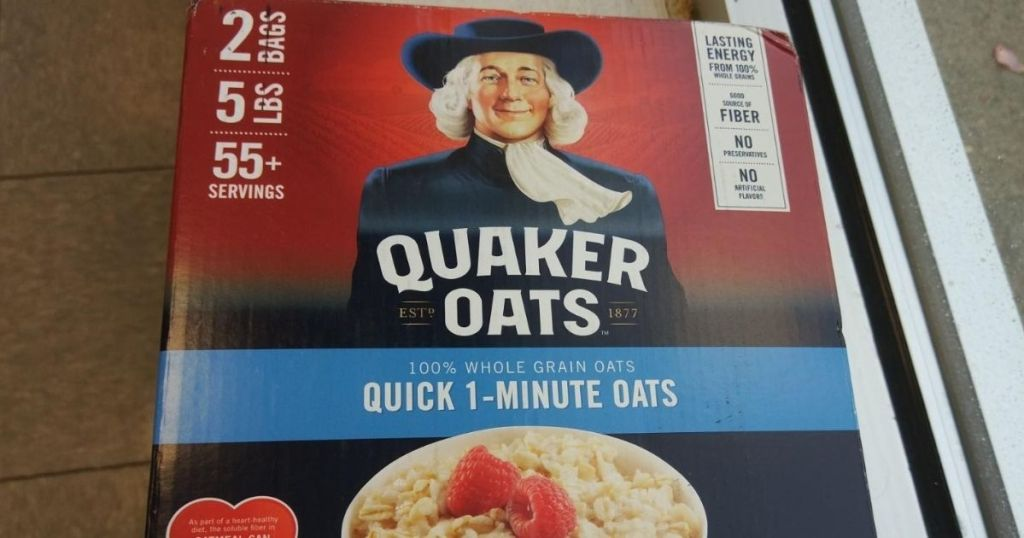 box of Quaker Oatmeal