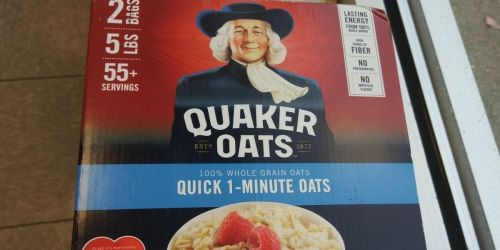 Quaker Oatmeal 5 Pound Box Only $6.38 Shipped for Amazon Prime Members (12¢ Per Serving)