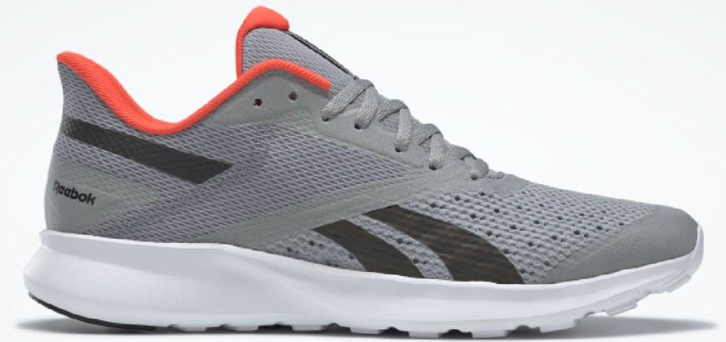 men's gray and orange sneaker