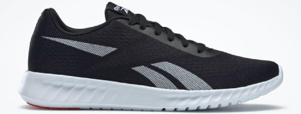 men's black running shoe