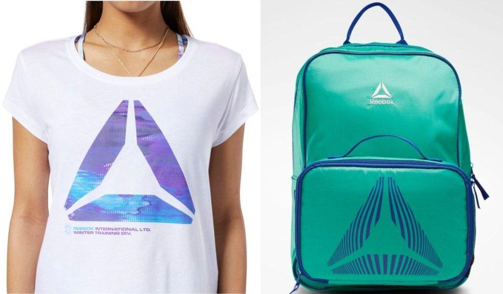 Reebok Shirt and Backpack