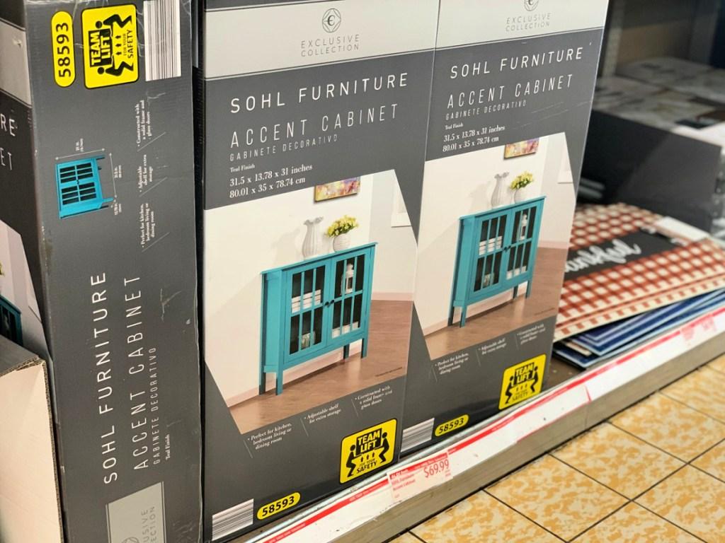 SOHL Furniture Accent Cabinet on shelf at ALDI